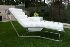outside leather lounger