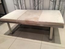 beige cowhide table