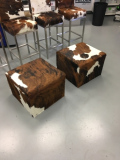 cowhide cubes and tables