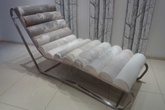 cowhide lounger