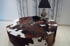 Round cowhide table