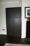 leather fronted doors