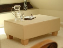cream leather table