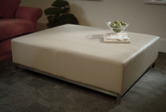 cream leather coffee table