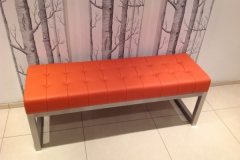 deep button leather bench