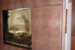 croc effect leather wall