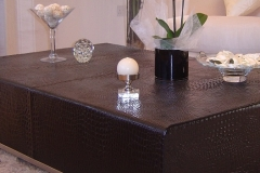 Croc effect leather table