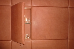 leather wall and cabinet