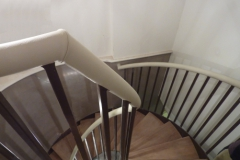 spiral leather handrail