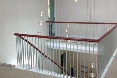 Leather Handrail on Spindles, Guildford