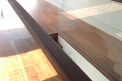 Leather Handrail on Glass