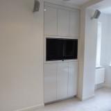 high gloss wall unit
