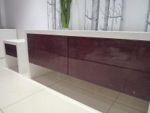 high gloss tv unit/table