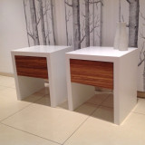zebrano wood beside cabinets