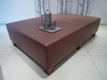 brown leather table