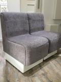 Silver-grey fabric modular chairs