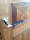 brown leather door handles