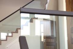 Leather Handrail on Glass Balustrade