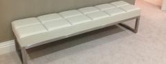 bespoke leather & steel bench