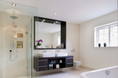 vanity unit and mirror