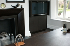 leather cupboard fronts and desk