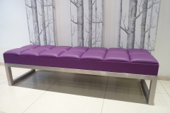 leather & steel bench