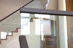 Leather Handrail on Glass Balustrade