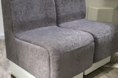 Silver-grey fabric modular chairs