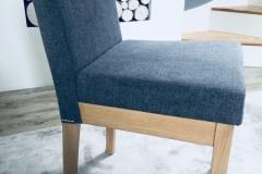 grey fabric dining chair
