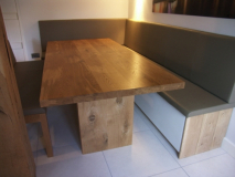fitted leather bench seating