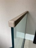 Square profile handrail in leather