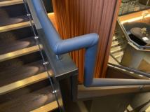 Gaucho Restaurant grey leather handrail
