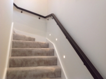 continuous leather handrail