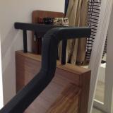 leather handrail Jaegar store Edinburgh