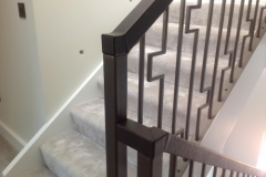 London residential leather handrail
