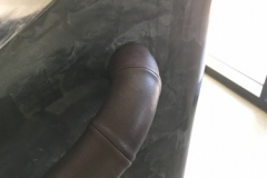 bespoke leather handrail