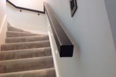 custom made leather handrail