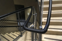 Black leather handrail - Magna Carta Vault, Lincoln Castle