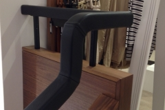 leather handrail Jaegar store Edinburgh
