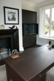 leather wall and desk