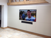 leather TV wall surround