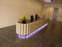 leather fluted reception desk
