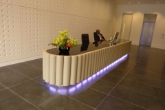 leather fluted reception desk