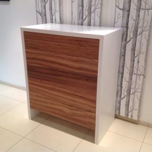 zebrano wood chest of drawers