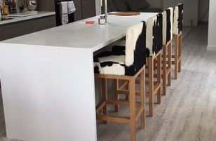 cowhide kitchen and bar stools