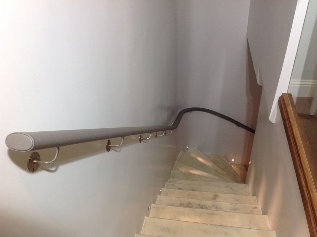 residential leather handrail