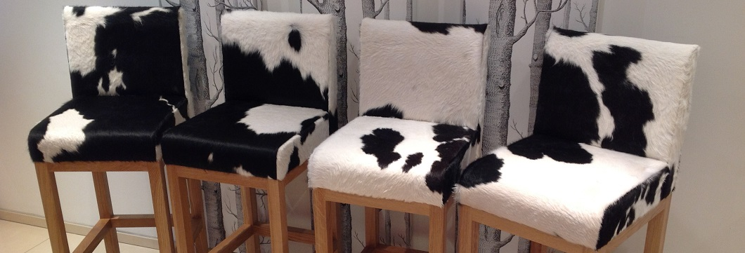 cowhide kitchen stools