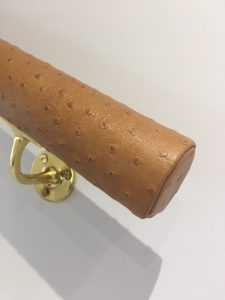 ostrich effect leather handrail