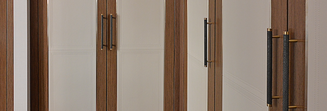 Leather Panels on Wardrobes