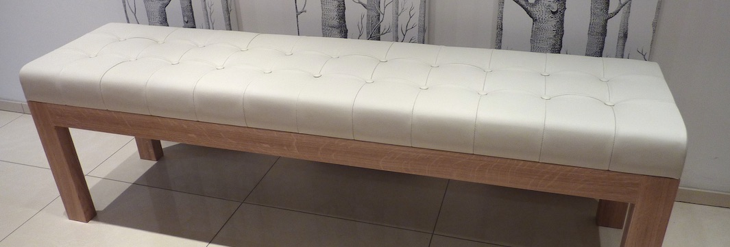 bespoke leather bench